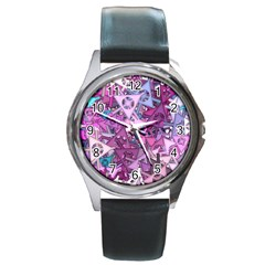 Fun,fantasy And Joy 7 Round Metal Watch
