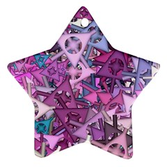 Fun,fantasy And Joy 7 Ornament (star)