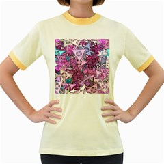 Fun,fantasy And Joy 7 Women s Fitted Ringer T Shirts