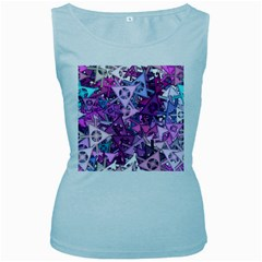 Fun,fantasy And Joy 7 Women s Baby Blue Tank Top