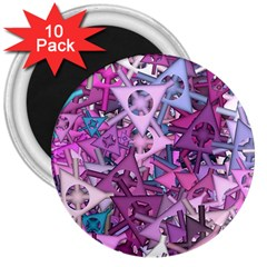 Fun,fantasy And Joy 7 3  Magnets (10 Pack)
