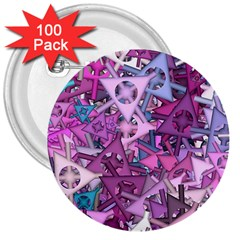 Fun,fantasy And Joy 7 3  Buttons (100 Pack)