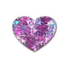 Fun,fantasy And Joy 7 Rubber Coaster (heart)