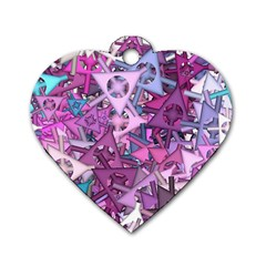 Fun,fantasy And Joy 7 Dog Tag Heart (two Sides)