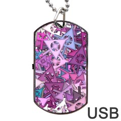 Fun,fantasy And Joy 7 Dog Tag Usb Flash (one Side)
