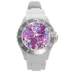 Fun,fantasy And Joy 7 Round Plastic Sport Watch (l)
