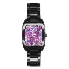 Fun,fantasy And Joy 7 Stainless Steel Barrel Watch