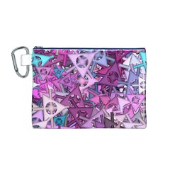Fun,fantasy And Joy 7 Canvas Cosmetic Bag (m)