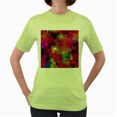 Fun,fantasy And Joy 5 Women s Green T Shirt