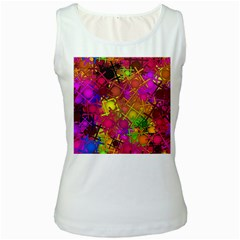 Fun,fantasy And Joy 5 Women s White Tank Top
