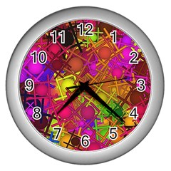 Fun,fantasy And Joy 5 Wall Clocks (silver)
