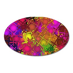 Fun,fantasy And Joy 5 Oval Magnet