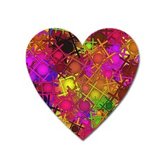 Fun,fantasy And Joy 5 Heart Magnet