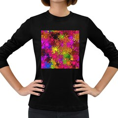 Fun,fantasy And Joy 5 Women s Long Sleeve Dark T Shirts