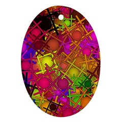 Fun,fantasy And Joy 5 Oval Ornament (two Sides)