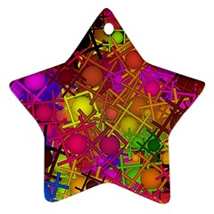 Fun,fantasy And Joy 5 Star Ornament (two Sides)