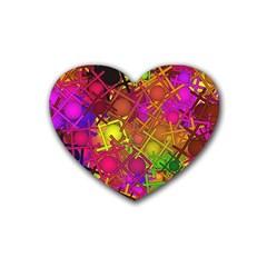 Fun,fantasy And Joy 5 Rubber Coaster (heart)