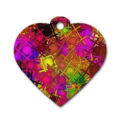Fun,fantasy And Joy 5 Dog Tag Heart (two Sides)