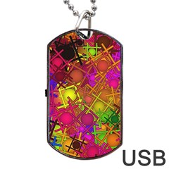 Fun,fantasy And Joy 5 Dog Tag Usb Flash (two Sides)