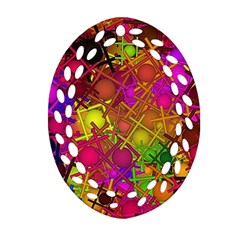 Fun,fantasy And Joy 5 Oval Filigree Ornament (two Sides)
