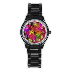 Fun,fantasy And Joy 5 Stainless Steel Round Watch