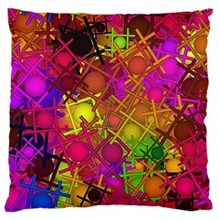 Fun,fantasy And Joy 5 Large Flano Cushion Case (one Side)