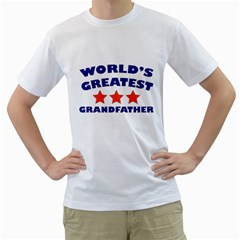 World Greatest Grandfather Men s T Shirt (white) (two Sided)