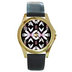 Japan Is A Beautiful Place In Calm Style Round Gold Metal Watch