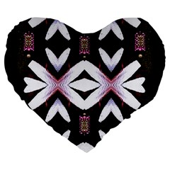 Japan Is A Beautiful Place In Calm Style Large 19  Premium Flano Heart Shape Cushions