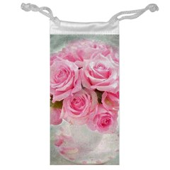 Pink Roses Jewelry Bag