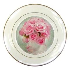 Pink Roses Porcelain Plates