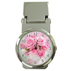 Pink Roses Money Clip Watches