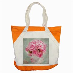 Pink Roses Accent Tote Bag