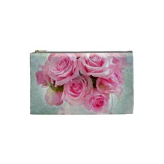 Pink Roses Cosmetic Bag (small)