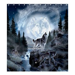 Spirit Of The Wolf  Shower Curtain 66  X 72  (large)