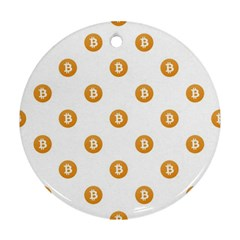 Bitcoin Logo Pattern Ornament (round)