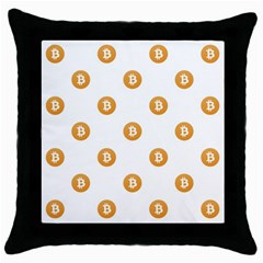 Bitcoin Logo Pattern Throw Pillow Case (black)