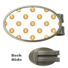 Bitcoin Logo Pattern Money Clips (oval)