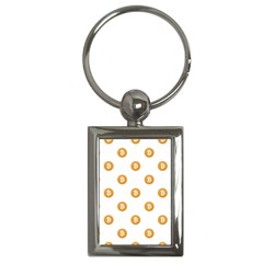 Bitcoin Logo Pattern Key Chains (rectangle)