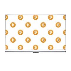 Bitcoin Logo Pattern Business Card Holders