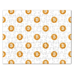 Bitcoin Logo Pattern Rectangular Jigsaw Puzzl