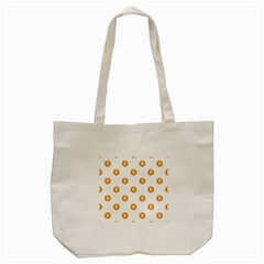 Bitcoin Logo Pattern Tote Bag (cream)