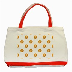 Bitcoin Logo Pattern Classic Tote Bag (red)