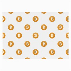 Bitcoin Logo Pattern Large Glasses Cloth
