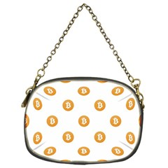 Bitcoin Logo Pattern Chain Purses (one Side)