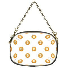 Bitcoin Logo Pattern Chain Purses (two Sides)