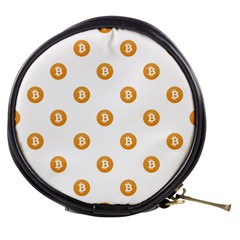 Bitcoin Logo Pattern Mini Makeup Bags