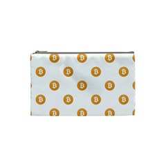 Bitcoin Logo Pattern Cosmetic Bag (small)