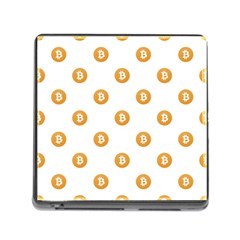 Bitcoin Logo Pattern Memory Card Reader (square)