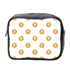 Bitcoin Logo Pattern Mini Toiletries Bag 2 Side